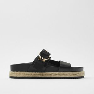 Zara Shoes - SOLD Zara Flat Leather Sandal
